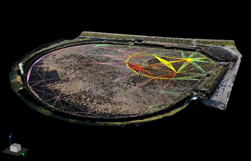 3次元現況データと3次元設計データの合成図